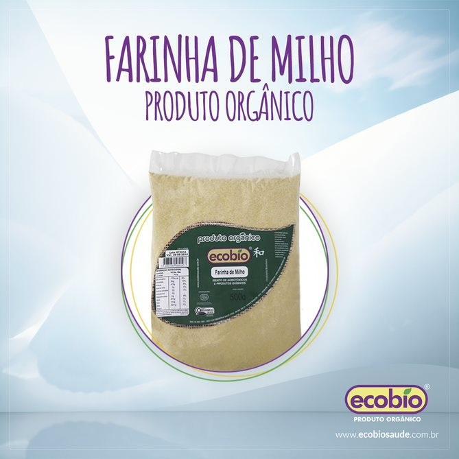 Farinha de Milho (Fubá) Orgânico