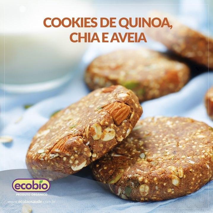 Cookies de Quinoa, Chia e Aveia