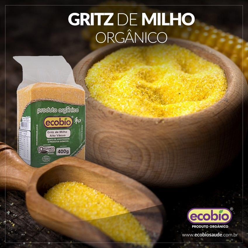 Gritz de Milho Orgânico Alto Vácuo