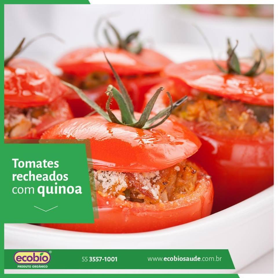 Tomates recheados com quinoa