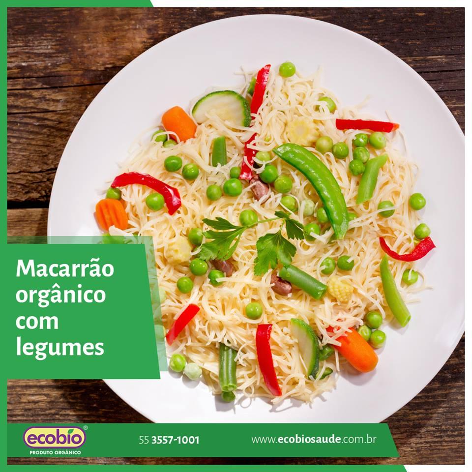 Macarrão Orgânico com legumes