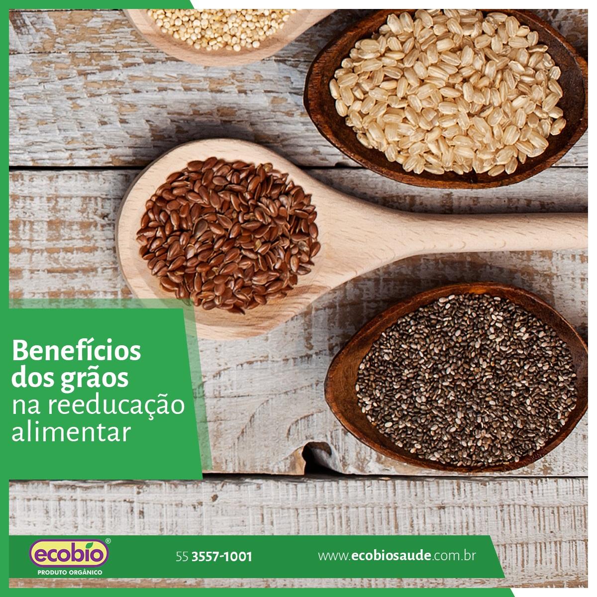 Benefícios dos grãos na reeducação alimentar