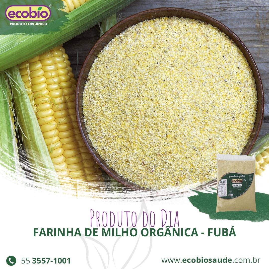 Farinha de Milho Orgânica - Fubá