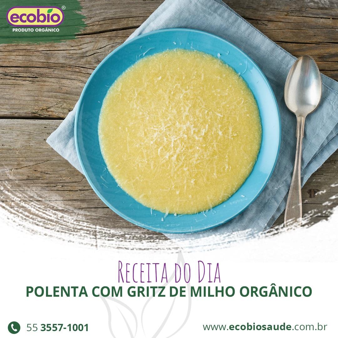 Receita: Polenta com Gritz de Milho Orgânico