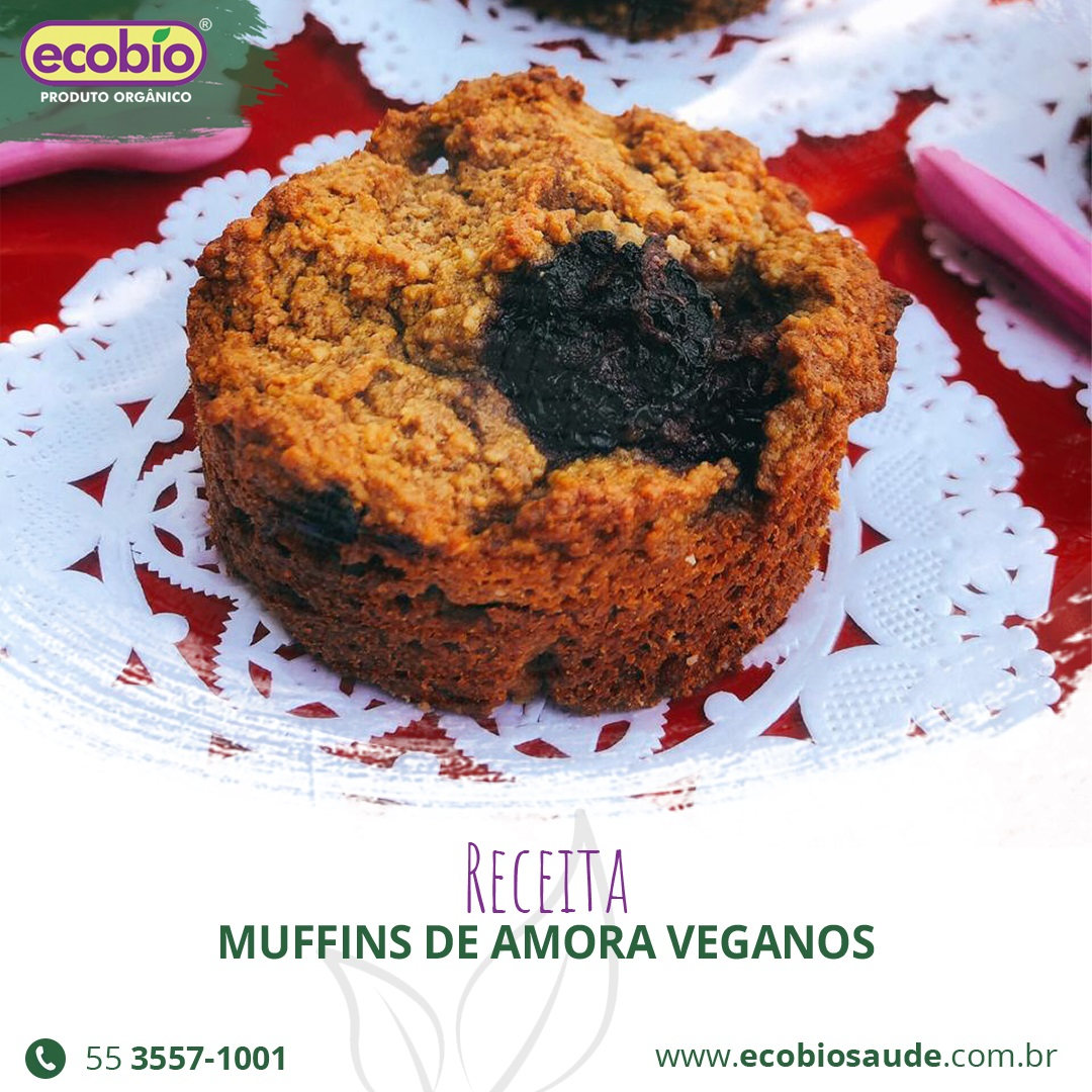 Receita: Muffins de Amora veganos