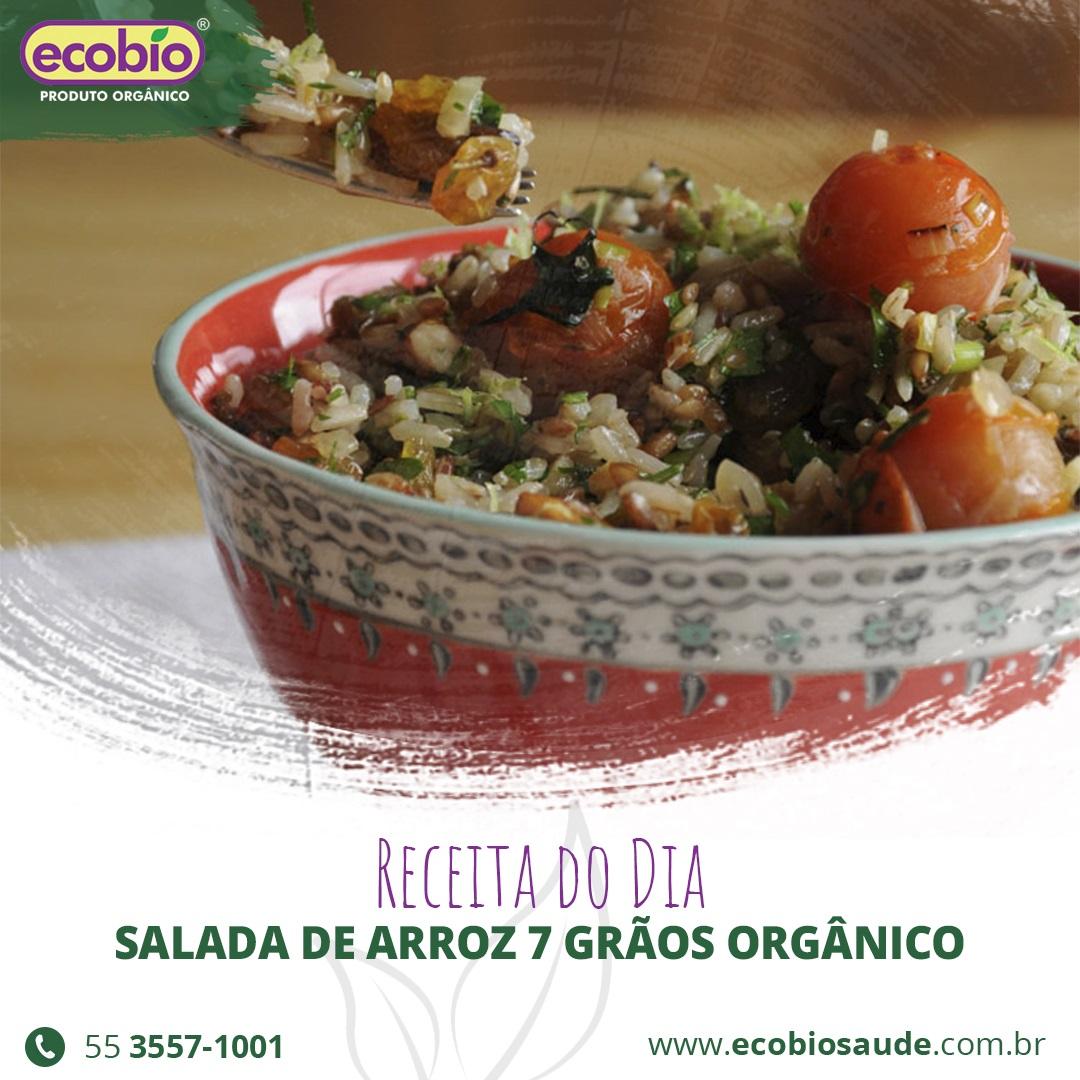 Receita: Salada de Arroz 7 Grãos Orgânico