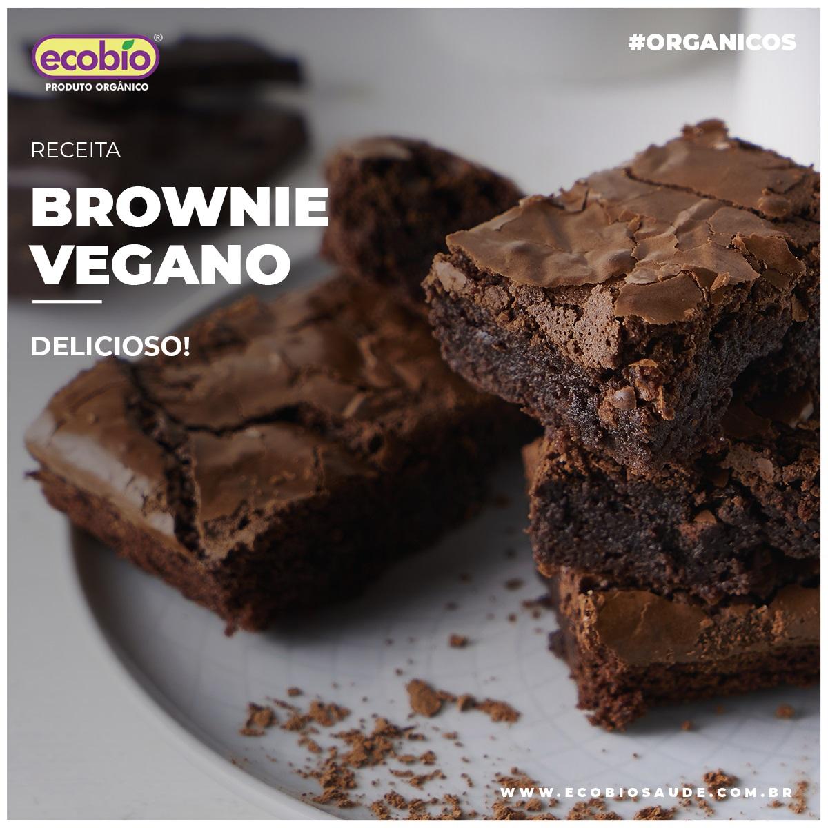 Receita de Brownie Vegano