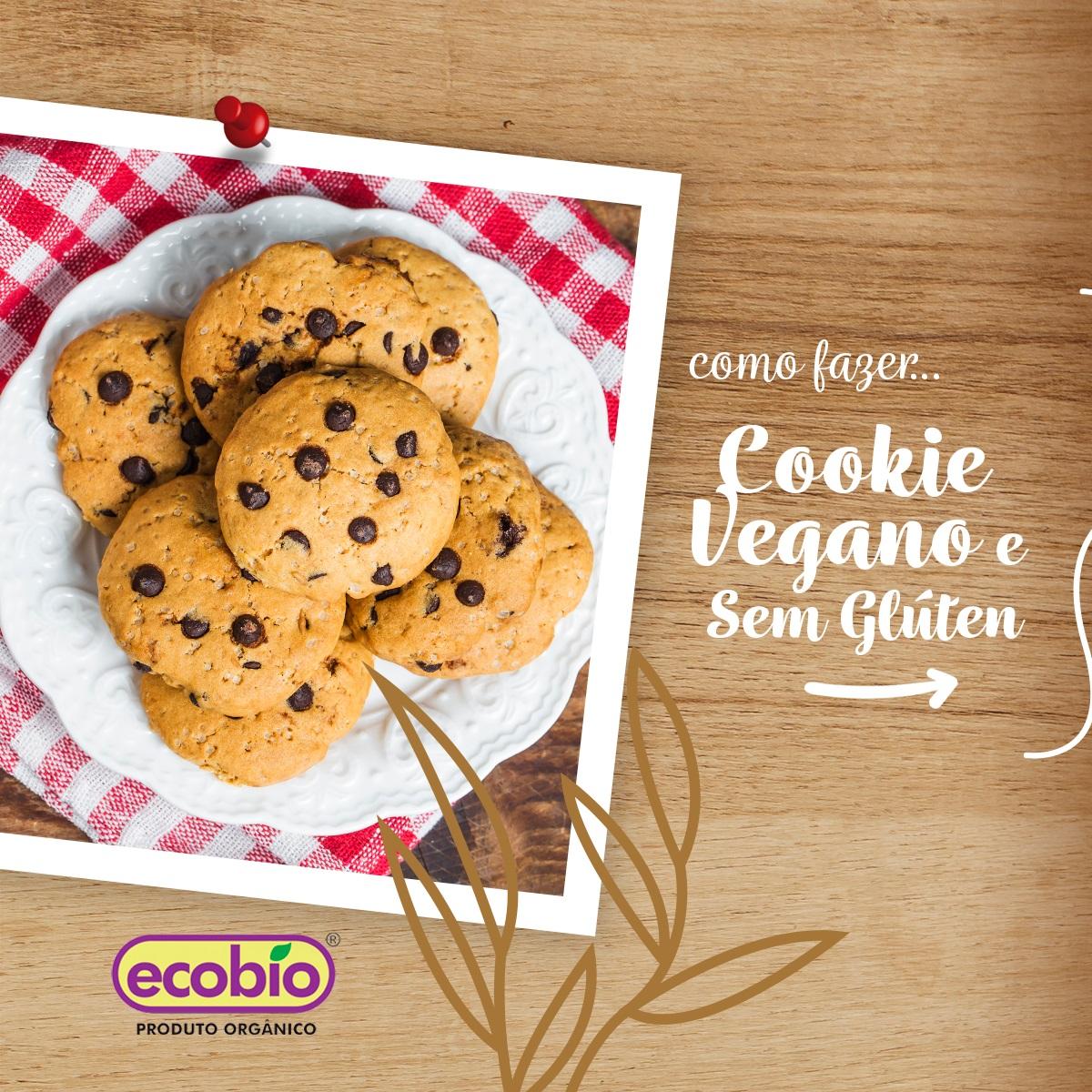 Cookie  Vegano e  Sem Glúten